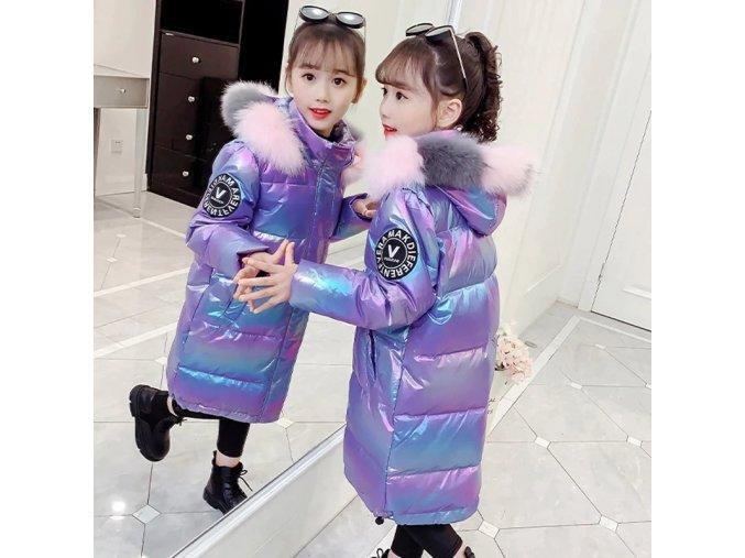 Girls Winter Clothing Cotton Coat Children s Mid length Thick Hooded Fur Collar Jacket Waterproof Warm.jpg Q90.jpg