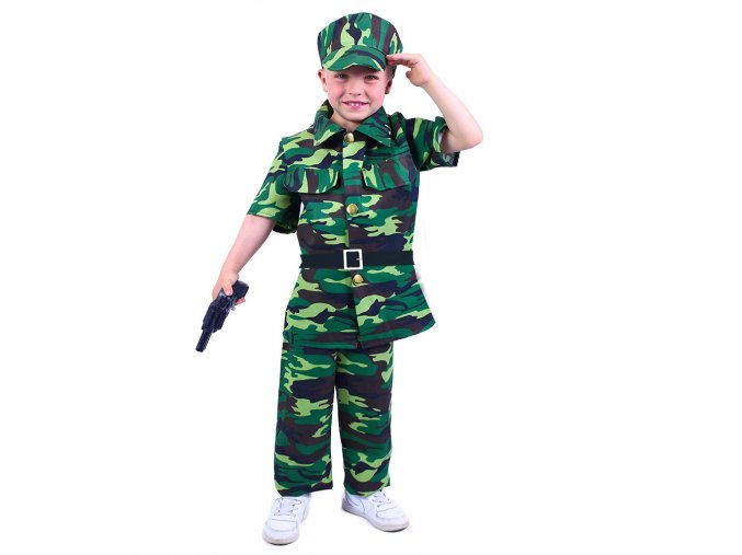 Dětský kostým Voják, S (4-6 let)