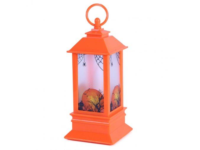Lampa na Halloween se světlem
