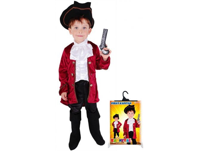 Dětský kostým Kapitán Hook, M (6-8 let)