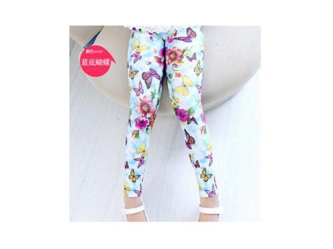 New Style Spring Autumn Children Leggings Flower Butterfly girls pants kids legging Beige