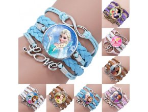 Disney princess children cartoon bracelet Frozen Elsa lovely wristand girl gift clothing accessories bangle kid make 0