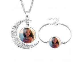 2pcs lot Disney cartoon Frozen children necklace Bracelet Elsa bow doll accessories girl birthday gift cosmetic 0