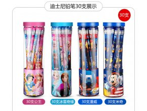 30 PCS children cartoon pencils with eraser Disney Frozen Elsa Mickey Sofia HB pencil environmentally friendly 0