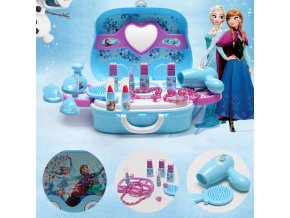 Disney frozen elsa and anna Makeup set Fashion House Simulation Dresser Toy Beauty pretend play for 1
