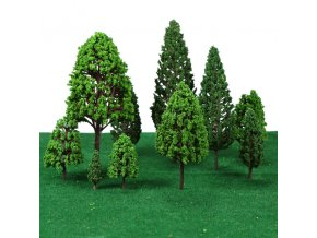 22pcs Ho Scale Plastic Miniature Model Trees For Building Trains Railroad Layout Scenery Landscape Accessories toys 3