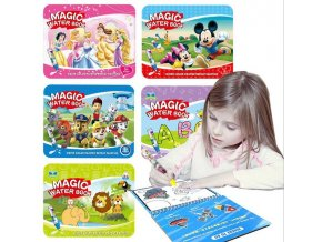 Reusable Magic Water Painting Book Magic Doodle pen Kids Coloring Doodle Drawing Board Toys Baby Educational 0
