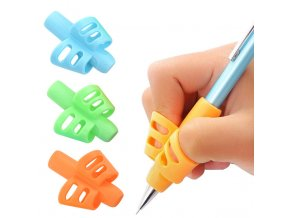 3pcs Children Writing Pencil Pan Holder Kids Learning Practise Silicone Pen Aid Grip Posture Correction Device 0