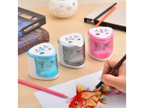 Automatic Pencil Sharpener Two hole Electric Touch Switch Pencil Sharpeners Pen Knife Student School Supplies Office 1