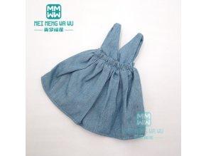 1PCS Blyth Doll Clothes fashion denim casual dress white shirt for Blyth Azone 1 6 doll 7