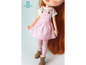 1PCS Blyth Doll Clothes fashion plaid strap dress T shirt for Blyth Azone obitsu FR 1 0