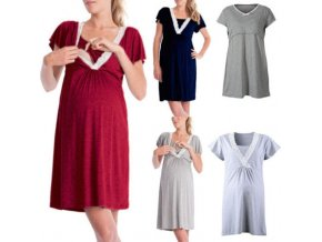 2018 Brand New Maternity Dress Nursing Breastfeeding Dresses Shortsleeve Lace Dress 0
