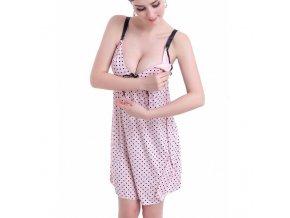 High grade pregnant women pajamas summer ice silk breast feeding sundresses breastfeeding clothes ropa premama maternity 0