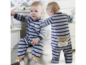 2 Newborn Baby Boy Autumn winter Fleece Climbing Clothes 3 12M Kids Footed Pajamas Long Sleeved Infant (1)