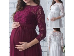 Pregnant Mother Dress New Maternity Photography Props Women Pregnancy Clothes Lace Dress For Pregnant Photo Shoot 0