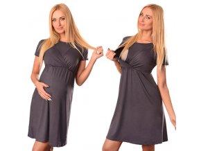 Maternity Breastfeeding Dresses Pregnant Women s Short Sleeve Fold Maternity Dress Comfy Maternity Nursing Cotton Dress 0