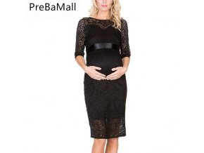 Sexy Maternity Dresses Photography Wedding Evening Party Dress For Pregnant Women Fashion Lace Pregnancy Dress Clothing 0