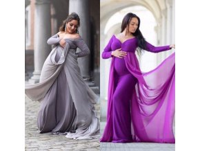 Puseky Maternity Photography Props Dresses For Pregnant Women Clothes Maternity Dresses For Photo Shoot Pregnancy Dresses 4