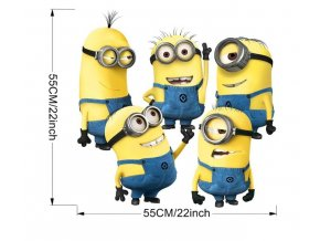 minions through wall stickers kids room decorations 9268 diy home decals window mural art cartoon movie 3