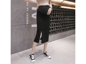 Side opening Maternity Skirts For Pregnant Women Clothes Abdominal High Waist Skirt Pregnancy Casual Slim Package 0