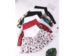 HziriP New Korean Maternity Knee Length Skirts Fashion Pregnant Women Summer Floral Print Skirt High Waist 1