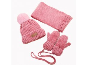 Baby Winter Scarf Hat Set For Kids Boys Girls Knitted Hats Scarfs Glove 3 Pcs Sets 0