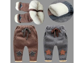 BibiCola New Baby Pants Thick Winter Baby Child Trousers Star Pants Children Leggings Kids Thick Velvet 0