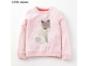 Little maven children brand baby girl clothes 2017 autumn new girls long sleeve Terry Knitted polka 0