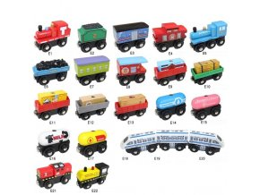 Wood Railway Track Car Magnetic Train Locomotive Toy Trains Accessories Kids Fit Wood Thomase Educational Model 0