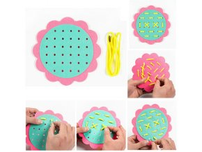 New Teaching Kindergarten Manual DIY Weave Cloth Montessori Materials Baby Early Learning Education Toys Teaching Aids 1