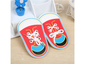 Montessori Toys Educational Wooden Toys for Children Early Learning Teaching Lacing Shoes Kids Tie Shoelaces Games 0