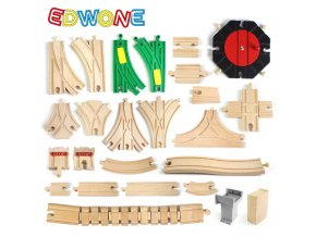 EDWONE New All Kinds Wooden Track Parts Beech Wooden Railway Train Track TOY Accessories Fit Thomas 0