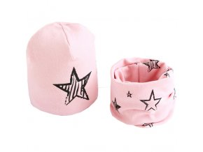 New Spring Autumn Girls hat scarf set Cartoon Owl Star Swan baby boy girls hat Children 4