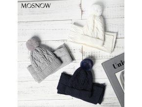 Kids Wool knitted Scarf Hat Set Winter Warm Pompom Hats And Scarves Child Beanie For Boys 0