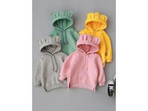 MUQGEW Winter Toddler Baby Kids Boy Girl Hooded Cartoon 3D Ear Hoodie Sweatshirt Tops Clothes roupa 1