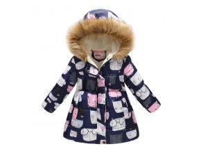 Kids Girls Jacket 2018 Autumn Winter Jacket For Girls Coat Baby Warm Hooded Outerwear Coat Girls 0