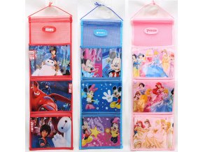 Disney princess children plush backpack storage hanging bag Frozen ELSA small wardrobe storage wall door back 0