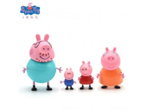 Original Peppa Pig George Pig Action Character Toys Home Life House Packages Picnic Dining Car Children 6