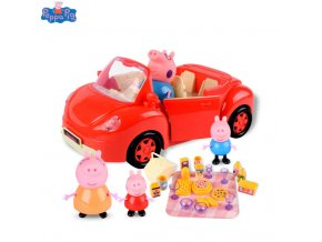 Original Peppa Pig George Pig Action Character Toys Home Life House Packages Picnic Dining Car Children 0