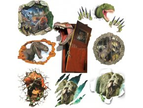 3D Samolepky dinosauři