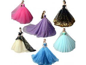 NK 2019 Princess Doll Clothes Handmake Wedding Dress Fashion Evening Party Outfit For Barbie Doll Accessories 0
