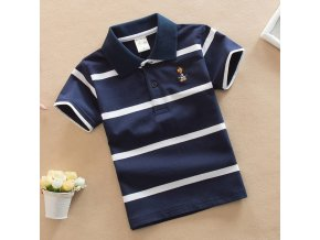 Jargazol T Shirt Kids Clothes Turn down Collar Baby Boy Summer Top Tshirt Color Stripes Vetement 0