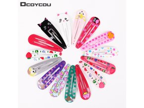 18PCS 3 Set Children Snap Hair Clips Barrettes Girls Cute Hairpins Colorful Headbands for Kids Hairgrips 1