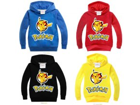 New Spring Autumn Sweatshirt Cotton Cartoon POKEMON GO Pikachu Kids Boys Girls Clothes Long Sleeve Hoodies 0