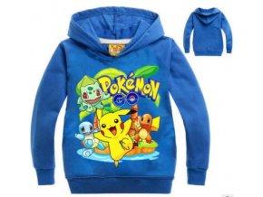 2019 new children s cartoon Hoodie pokemon go Spring summer cotton long sleeved sweater pikachu sport 4