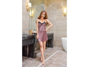 Women Nightgowns Sexy Lace Satin Sleepwear Nightdress Home Wear Summer Sexy Backless Sleep Lounge Night Dress 1