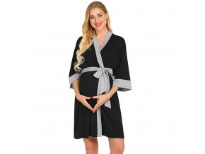 Maternity Nursing Robe Delivery Nightgowns Hospital Breastfeeding Gown Labor Robe Delivery Sleepshirts for Breastfeeding pajamas 1