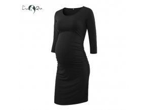 Pack of 3pcs Women s Side Ruched Maternity Clothes Bodycon Dress Mama Casual Short Sleeve Wrap 2