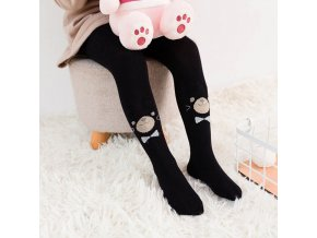 Children Pantyhose Cute Baby Girl Autumn Cartoon Tights Knitted Girls Stockings Kids Girl Tights 2