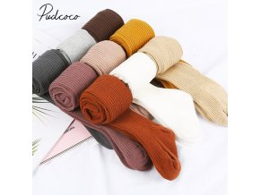 2019 Baby Autumn Winter Tights Hot Baby Toddler Kid Girl Ribbed Stockings Cotton Warm Pantyhose Solid 1